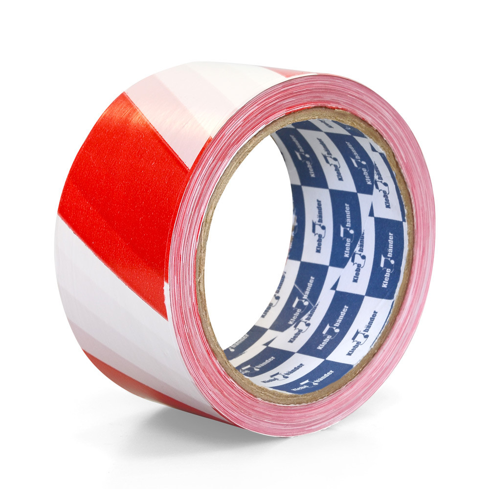 Лента для ограждений неклейкая, 50мм*200м, бело-красная, Klebebänder