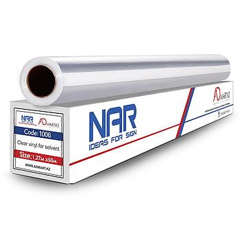 NAR 1006 1.27мх50м 140g Пленка для печати  (прозрачная) МЕТР