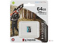 Карта памяти Kingston 64GB microSDXC Canvas Go Plus 170R A2 U3 V30 Card,без адаптера, SDCG3/64GBSP