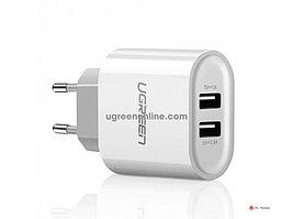 Зарядное устройство UGREEN CD104 Dual USB Wall Charger 3.4A EU (White), 20384