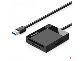 Картридер UGREEN CR125 USB 3.0 All-in-One Card Reader 1m