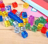 Мозаика с камешками «Весёлая стройка», пластиковые квадраты, карточки, по методике Монтессори, фото 3