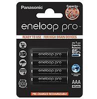 Комплект из 4-х аккумуляторов ААA 930 mAh Panasonic Eneloop Pro (BK-4HCDE/4BE) блистер