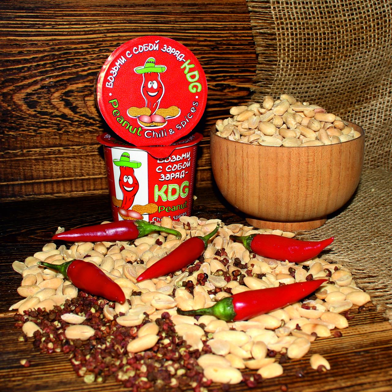 """Арахис """"KDG"""" со вкусом перца чили"""