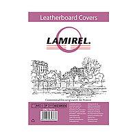 Обложки Lamirel Delta A4 LA-78770, картонные, с тиснением под кожу , цвет: зеленый, 230г/м², 100шт