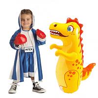 "Надувная игрушка-неваляшка ""Intex 44669NP 3-D Bop Bags"" в виде , дракончика, или тигрёнка."