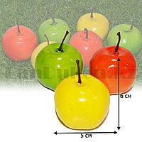 Искусственное яблоко ранетка декоративная муляж маленькая цена за одну 6х5 см в ассортименте