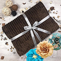 Плед бамбуковый кубики Велтсофт коричневый 200×220 см