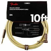 Инструментальный кабель Fender Deluxe Series Straight/Angle 10' Tweed