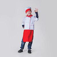 Детский карнавальный костюм 'Повар', колпак, куртка, фартук, косынка, 4-6 лет, рост 110-122 см