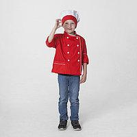 Детский карнавальный костюм 'Шеф-повар', колпак, куртка, 4-6 лет, рост 110-122 см