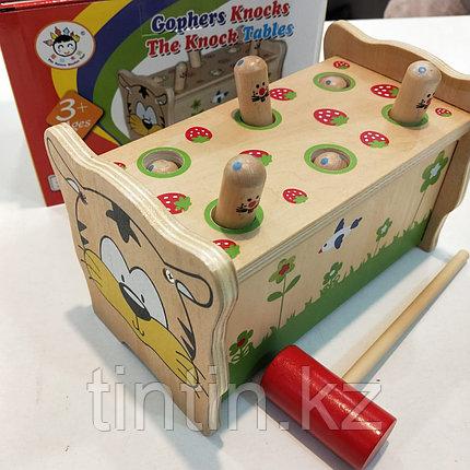 Деревянная игрушка стучалка, фото 2