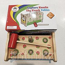 Деревянная игрушка стучалка, фото 3