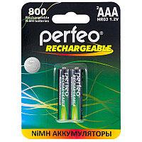 Аккумулятор Perfeo_HR03/AAA  800maH Ni-Mh BL2, 1,2В. блистер, цена за 1 штуку