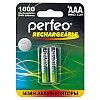 Аккумулятор Perfeo_HR03/AAA 1000maH Ni-Mh BL2,  1,2В. блистер, цена за 1 штуку