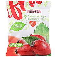 Леденцовая карамель с витамином С со вкусом шиповника Актифрут, 60 гр