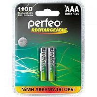 Аккумулятор Perfeo_HR03/AAA 1100maH Ni-Mh BL2,  1,2В. блистер, цена за 1 штуку