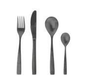Набор столовых приборов «Черный» из нержавеющей стали, 24 предмета.
