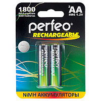 Аккумулятор Perfeo_HR6/AA 1800maH Ni-Mh BL2,  1,2В. блистер, цена за 1 штуку