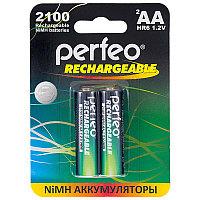Аккумулятор Perfeo_HR6/AA 2100maH Ni-Mh BL2,  1,2В. блистер, цена за 1 штуку