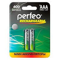 Аккумулятор Perfeo_HR03/AAA 400maH Ni-Mh BL2,  1,2В. блистер, цена за 1 штуку