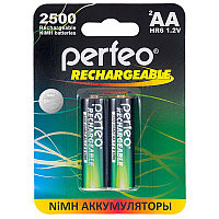 Аккумулятор Perfeo_HR6/AA 2500maH Ni-Mh BL2,  1,2В. блистер, цена за 1 штуку