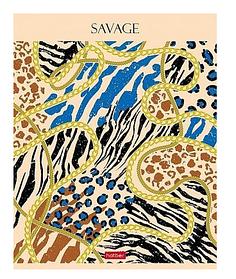 """Тетрадь """"Hatber"""", 96л, А5, линия, тиснение, на скобе, серия """"Savage"""""""
