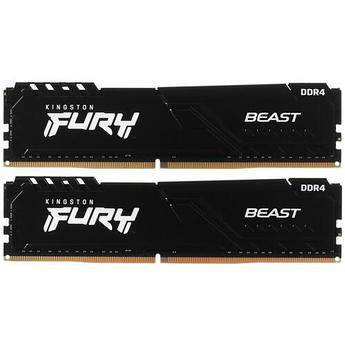 ОЗУ Kingston FURY Beast RGB 32Gb(16Gb*2)/3600 DDR4 DIMM, CL18, KF436C18BBK2/32