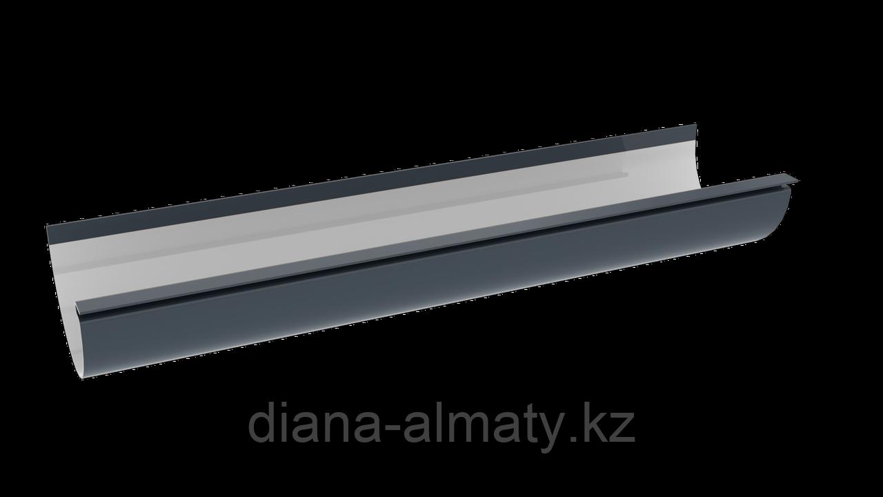 Желоб водосточный серый графит d=125 мм, 3 м, RUPLAST (Россия)