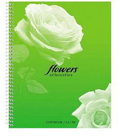 """Тетрадь """"Hatber Eco"""", 96л, А5, клетка, на гребне, серия """"Цветы"""""""