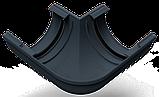 Угол наружный (внутренний) 90 град. для желоба d=125 мм, RUPLAST (Россия) серый графит, фото 2