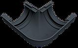 Угол наружный (внутренний) 90 град. для желоба d=125 мм, RUPLAST (Россия) серый графит, фото 4