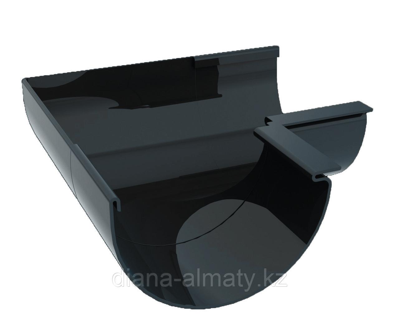 Угол наружный (внутренний) 90 град. для желоба d=125 мм, RUPLAST (Россия) серый графит