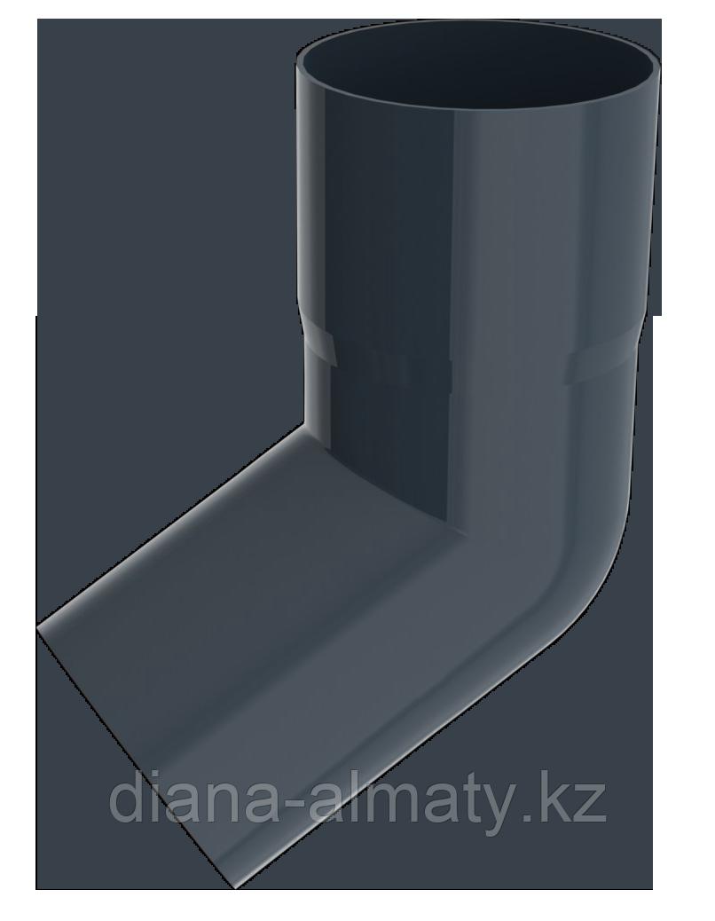 Колено 60град d=90 мм RUPLAST (Россия) серый графит