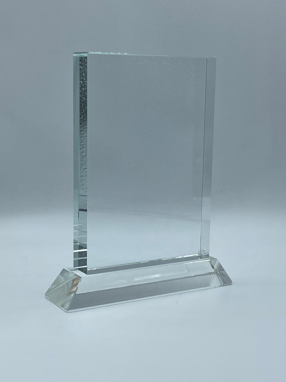 Награда из стекла, размер - 110х130х15мм (в)