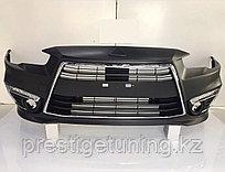 Передний бампер в сборе на Mitsubishi Lancer EX 2008-17 дизайн SPORT