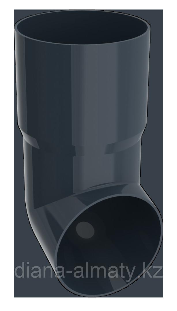 Отвод - наконечник серый графит d=90 RUPLAST (Россия)