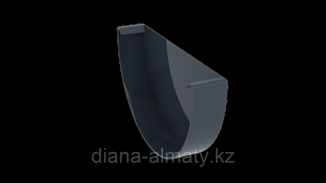 Заглушка желоба d=125 мм, RUPLAST серый графит