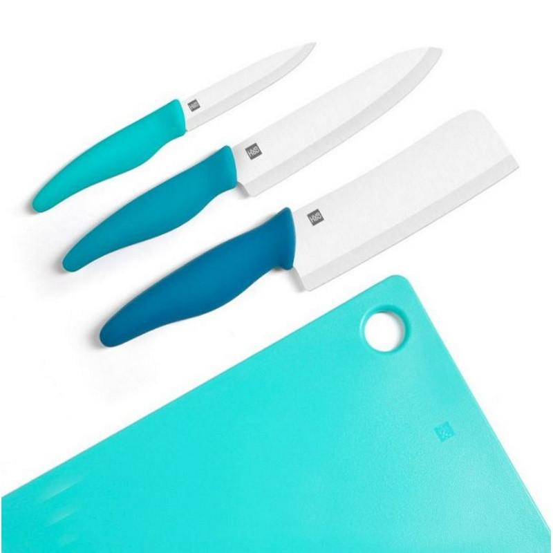 Xiaomi Набор керамических кухонных ножей с доской Huohou HU0020