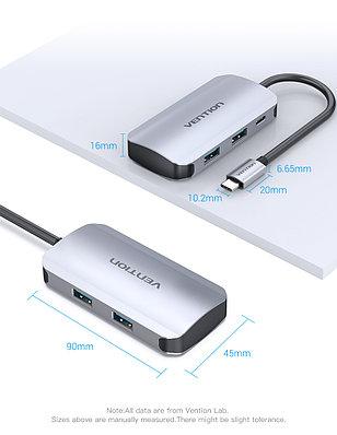 Thunderbolt/Type-C HUB. 4*USB 3.0 +PD(до 100В)