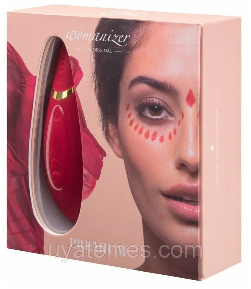 Бесконтактный клиторальный стимулятор Womanizer Premium красный/золотой