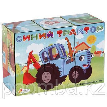 Кубики Набор из 6-ти кубиков «Синий трактор»