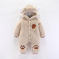 Комбинезон с капюшоном для младенцев Мишутка бежевый