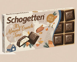 "Шоколад Schogetten ""it's time"" almound crunch 100гр (15 шт. в упаковке)"