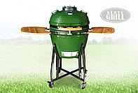Керамический гриль-барбекю с окошком 22 дюйма (зеленый) (57см) c чехлом, фото 1
