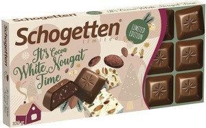 "Шоколад Schogetten ""it's time"" White nugat 100гр (15 шт. в упаковке)"