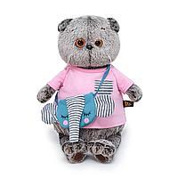 Мягкая игрушка BASIK в футболке и с сумочкой - слоник, 22 см 1248192
