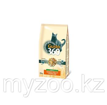 Gusto Cat Manzo 20 кг (говядина, курица, овощи)