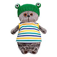 Мягкая игрушка BASIK в шапке Лягушка, 22 см 1248190