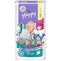 Детские подгузники Happy Junior 58 штук 12-25 кг